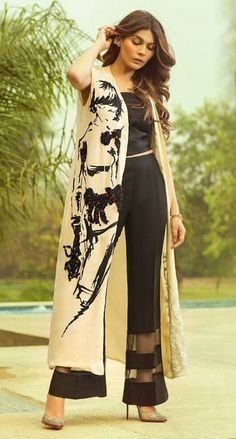 Indian Fashion, Womens Fashion, Indian Gowns, Vest Outfits, Cape Dress, Caftans, Western Outfits, Woman Clothing, Indian Designer Wear