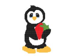 Plastic Canvas Wall Hangings Berry Happy Penguin by kathybarwick, $2.20
