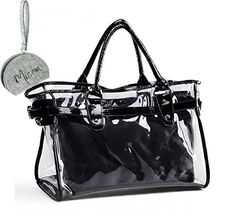 Micom 2015 Summer Candy Color Clear Transparent Tote Shoulder Bags Satchel, Beach Handbag for Women with Micom Zip Pouch (Black) MICOM http://www.amazon.com/dp/B00YBI6Y7A/ref=cm_sw_r_pi_dp_w009wb1Z9SEAG