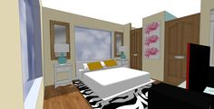 Bedroom sketch created by one of our Interior Design Certificate Program students, Elizabet Lyon.