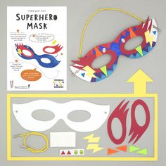 make your own superhero mask kit from cotton twist. the BEST party bag filler