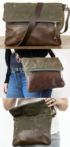 a888002cea9 The Waxed Canvas   Leather Foldover Day Bag is easy and breezy for  everyday. Made