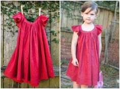 Your little girl will love this gorgeous DIY Summer Frock. This girls' dress pattern features fluttery sleeves, bright fabric, and a gathered neckline, so the look is fun and feminine. Sewing Patterns For Kids, Sewing For Kids, Baby Sewing, Free Sewing, Little Girl Dresses, Girls Dresses, Prom Dresses, Couture Bb, Dress Sewing Tutorials