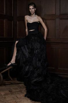 Stunning black wedding gown from Vera Wang. Perfect for the unconventional bride