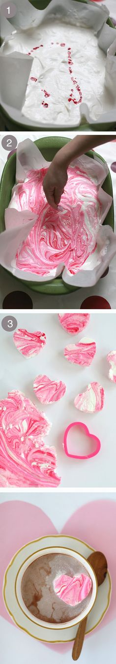 ♥~ DIY peppermint marshmallows in the sweetest of shapes ~♥