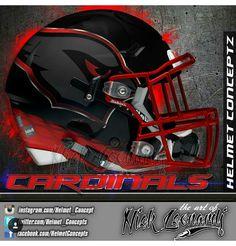 Go Cards Az Cards, Arizona Cardinals Football, Sports Decor, Custom Football, Football Helmets, Nfl, Baseball, Baseball Promposals, Personalised Football