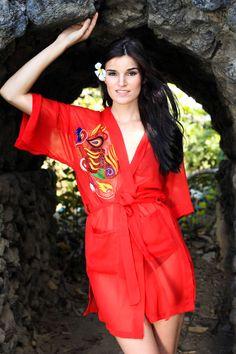 Fall wedding, Autumn colors, Jewel tones, Red, Burgundy. Red wedding Dress, Robe, bridesmaid dress, bridal robe