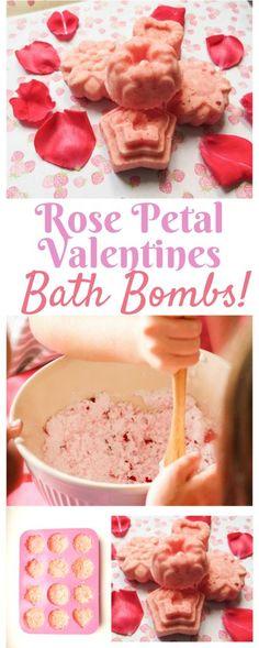How to Make Rose Petal Bath Bombs