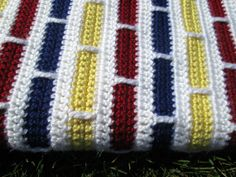 Primary Colors Crochet Baby Blanket by LydiasLovelies on Etsy, $30.00 #crochet #blanket #baby
