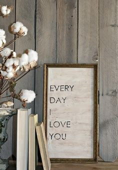Great project to place in kids room to remind them of your love.