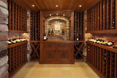 like the brick wall, the ceiling, the shelving. like having some cabinet space to store cases of wine/booze