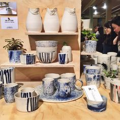 """Gorgeous debut stall @lapetitefabriquedebrunswick, featuring 3D printed (top row) ceramics!! Need the market details? Follow the link in our profile. :…"""