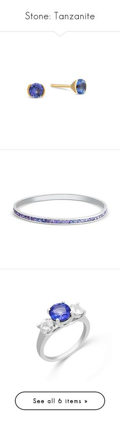 """""""Stone: Tanzanite"""" by blossom-jewels ❤ liked on Polyvore featuring Blossomjewels, jewelry, earrings, zircon stud earrings, white stud earrings, sterling silver jewelry, sterling silver jewellery, zircon jewelry, bracelets and bangle jewelry"""