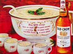 1963 #Bourbon Eggnog with Old Crow