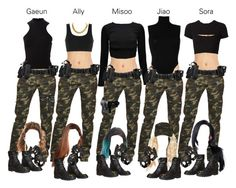 Discover recipes, home ideas, style inspiration and other ideas to try. Cute Group Halloween Costumes, Group Costumes, Halloween Kostüm, Halloween Outfits, Camo Pants Outfit, Camo Outfits, Friend Outfits, Army Costume, Swat Costume