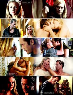Eric and Sookie through the seasons. True Blood!
