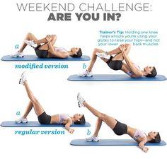 Weekend challenge : hip raises
