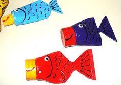 Pra Gente Miúda: Peixinhos com pratos descartáveis
