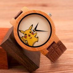 Montre quartz Pikachu Bamboo-BoBo