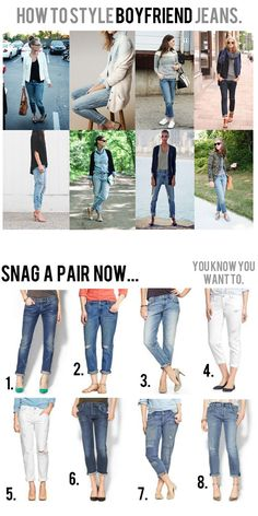 How to style boyfriend jeans! - I just got a pair of boyfriend jeans in my StitchFix and wasn't really sure what to wear them with. Now I know!