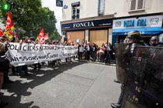 Protest France, Banderole policiers rejoignez nous-l