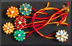 Paper Quilling Jewelry, Quilling Paper Craft, Paper Crafts, Handmade Rakhi Designs, Handmade Design, Hobbies And Crafts, Diy And Crafts, Quilling Rakhi, Rakhi Cards