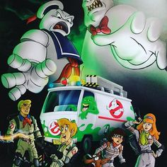Like Zoinks! (Artist Darrin Brege) #scoobydoo #ghostbusters #zoinks #art #random #epic #awesome #coolstuff #crossover #art🎨    #Regram via @heavensrath777)