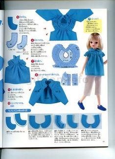 revista ropa de muñecas