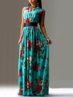 Buy Colorful V Neck  Floral Printed Maxi-dress online with cheap prices and discover fashion Maxi Dresses at Fashionmia.com.  http://www.fashionmia.com/Products/colorful-v-neck-floral-printed-maxi-dress-42529.html