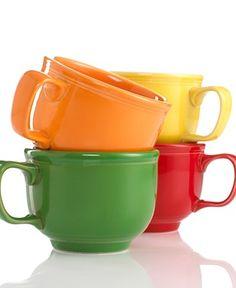 Fiesta® Jumbo Mugs with 18 oz. capacity. Behold Shamrock, Tangerine, Sunflower, and Scarlet   Amazon