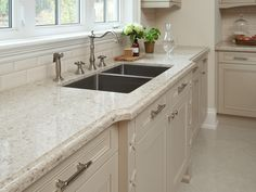NEW HOUSING TRENDS 2015: Countertops aren't what they used to be. #Quartz is #customizable and can be designed according to particular styles, colors, and patterns. Featuring Darlington Quartz #Countertops by Cambria. See more on our House Plans Blog http://houseplansblog.dongardner.com/new-housing-trends-2015-countertops-arent-used/