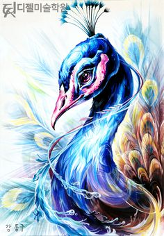 Peacock Painting, Peacock Art, Art And Illustration, Animal Drawings, Art Drawings, Wow Art, Color Pencil Art, Watercolor Paintings, Easy Watercolor