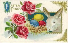 """Easter Tidings"" ~ ca. 1910s postcard"