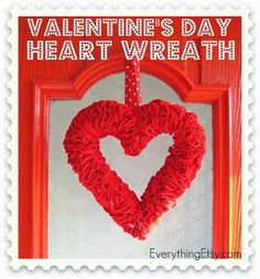 Cool Valentine's Day Felt Heart Wreath
