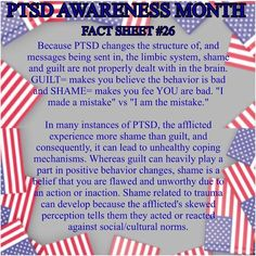June is #PTSD awareness month and it's a more prevalent affliction than most people know. You never know the quiet battle those near you are fighting and it could be a fight for their life! Read, share, and fight the stigma.  #cptsd #ptsdsurvivor #veterans #war #invisibleillness #trauma #fightthestigma #warriors #homefront #courage #strength #silentfight #anxiety #mentalhealth #shame #guilt #perception
