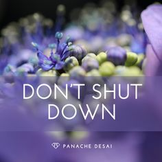 """Say to yourself, ""I am not going to move away from this situation because it's uncomfortable."" The most uncomfortable situations in life hold the greatest potential for growth."" Panache Desai ♥"