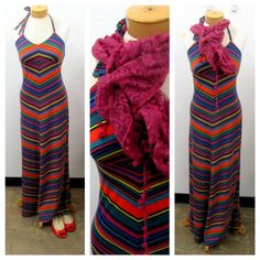 This long maxi dress is perfect for summer, but pair it with a scarf and jean jacket and it's great for fall too! Dress 5.99, Scarf .99, Shoes 6.99