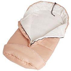 TecTake Saco de invierno dormir térmico para carrito silla de bebé universal abrigo polar beige