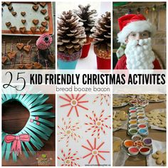These 25 Kid Friendly Christmas Activities can either be done by the kiddos alone, or with some parental help.