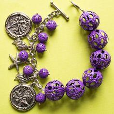 Sweet Beads Sadie's Studio Lush Lavender Bracelet #jewelry #DIY