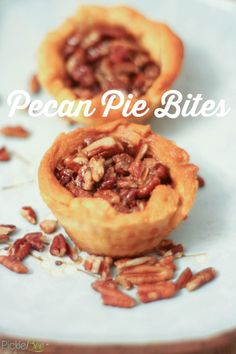 Pecan Pie Bites - perfectly sweet and flaky, these pie bites are the perfect weeknight dessert treat.