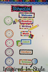 Make your classroom organized with these fun Schedules!