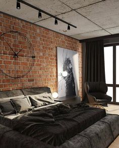 industrial interior design FIND OUT: Get Tips To Apply Industrial Bedroom Interior Design Industrial Bedroom Furniture, Industrial Bedroom Design, Industrial Interiors, Industrial House, Industrial Apartment, Chanel Decoration, Suites, Luxurious Bedrooms, Modern Bedroom