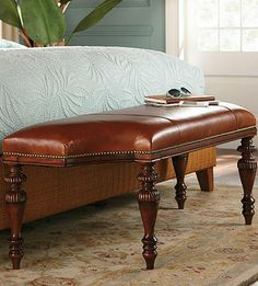 The classic details of our St. Elizabeth Upholstered Bench make it a timeless and sophisticated addition to your decor.