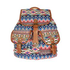 Cool! Vintage Geometry Diamond Star Stripe Pattern Drawstring Hasp Rucksack Backpack just $29.99 from ByGoods.com! I can't wait to get it!