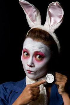 White Rabbit face paint