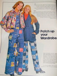 Patchwork Denin 1970s - I remember thinking this was ugly even back then.