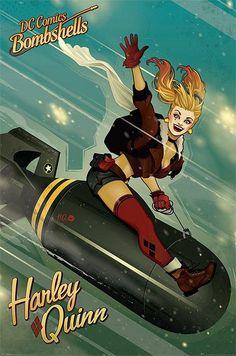 DC Bombshells - grand poster Harley Quinn V2