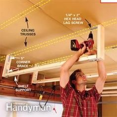 How to hang supports from the ceiling
