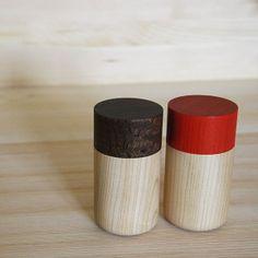 Tutu wood container - Soji Collection - Medium Red